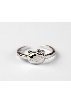 Hello Kitty 92.5 Sterling Silver Ring (Polished)