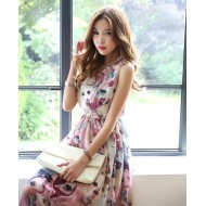 Tilda Print Sleeveless Casual Dress