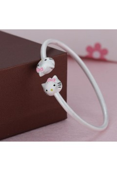 Hello Kitty Bangle 92.5 Sterling Silver