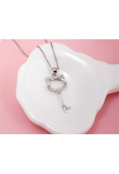 Hello Kitty Key Necklace 92.5 Sterling Silver