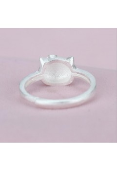 Hello Kitty Cartoon 92.5 Sterling Silver Ring