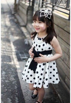 Cute Polka Dress For Kids