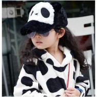 Kid Furry Panda Baseball Cap