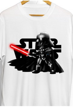 Darth Vader w/ Light Saber Star Wars Chibi Shirt