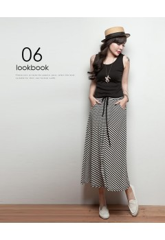 Stripes Long Dress with Pockets