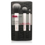 REAL TECHNIQUES White Duo Fiber Collection Make Up Brush ORIGINAL