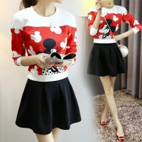 Mickey Mouse Sweater Top and Skater Skirt Set