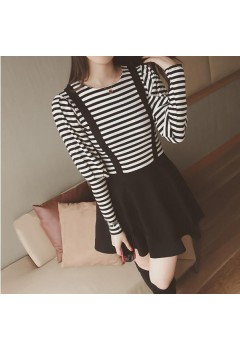 Stripes Skater Jumper Dress