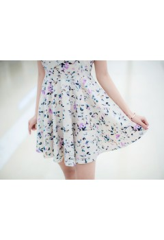 Sweet Floral Sleeveless Dress