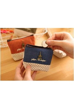 Square Polka Charm Coin Purse
