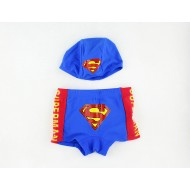 Superman Kids Trunks with Swimming Cap