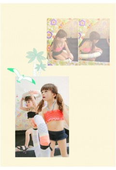 Simple Princess Kids Swimsuit 3pcs Set