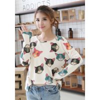 Cute Cats Loose Long Sleeves