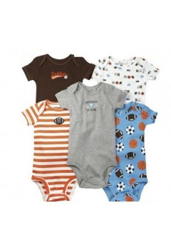 Darol Short Sleeves Baby Bodys Set 5pcs