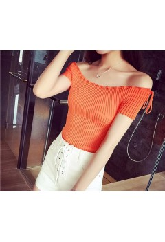 Stitched Loose Round Neck Top