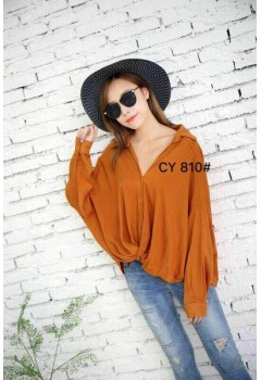 Loose Long Sleeve Cute Top
