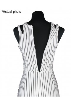 Sexy Stripes Spliced Bodycon Dress