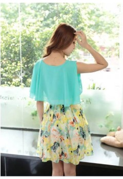 Lovely Floral Chiffon Dress