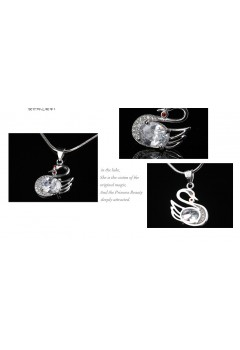 Beautiful Swan Necklace 92.5 Sterling Silver