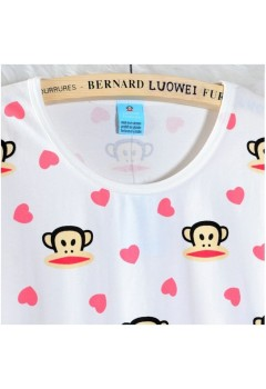 Cute Animal and Hearts PJ Set