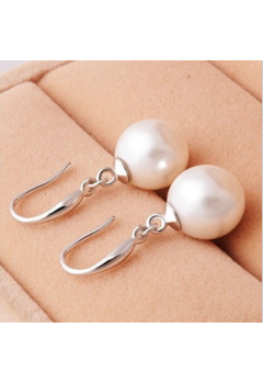 Dangling Pearl Earrings 92.5 Sterling Silver